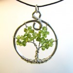 Peridot Tree of Life Pendant by Sweetfire Creations by Lori Reed