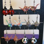 origami Crane earrings by Sweetfire Creations by Lori Reed