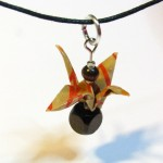 origami crane pendant by Sweetfire Creations by Lori Reed