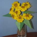 Origami sunflowers by Sweetfire Creations by Lori Reed