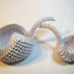 3d origami swans by Sweetfire Creations by Lori Reed