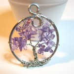 Amethyst Tree of Life Pendant by Sweetfire Creations by Lori Reed