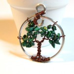 Malachite and Copper Tree of Life Pendant by Sweetfire Creations by Lori Reed