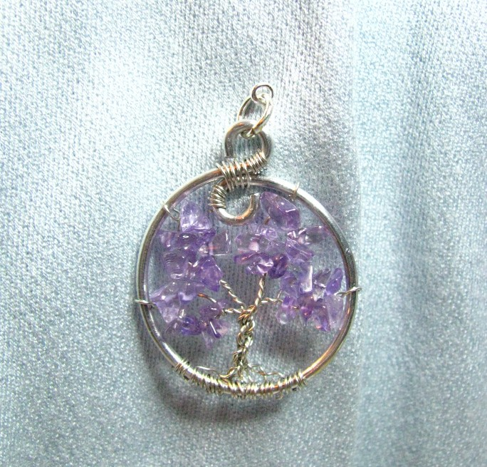 Tree of Life Amethyst Brooch Sweetfire Creations Lori Reed