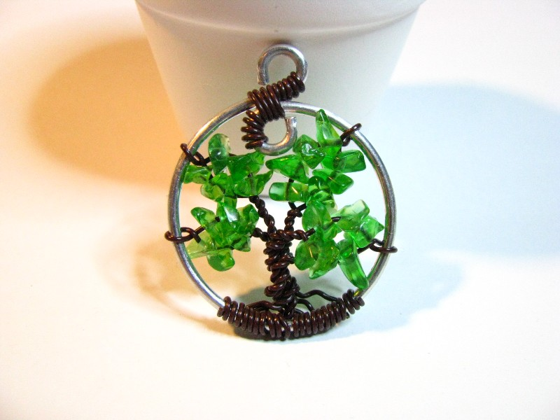 Tree of Life Sweetfire Creations by Lori Reed - Green Glass