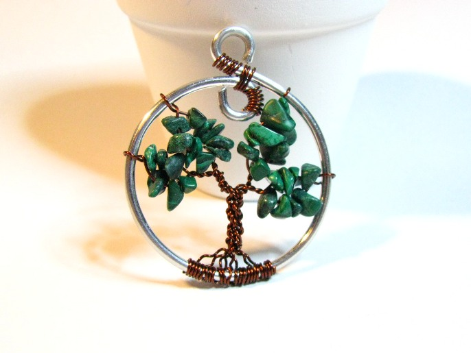 Tree of Life Malachite and Copper Sweetfire Creations by Lori Reed