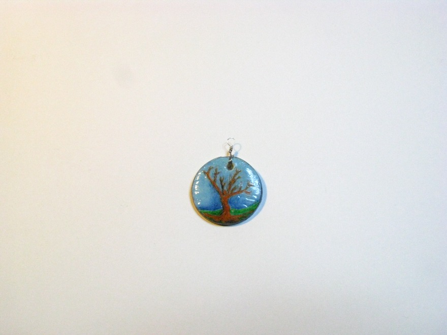 Clay Tree Picture Pendent by Sweetfire Creations Lori Reed