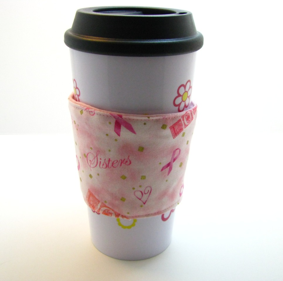 Coffee Cozy for Carolina Breast Friends & CBF Pink House