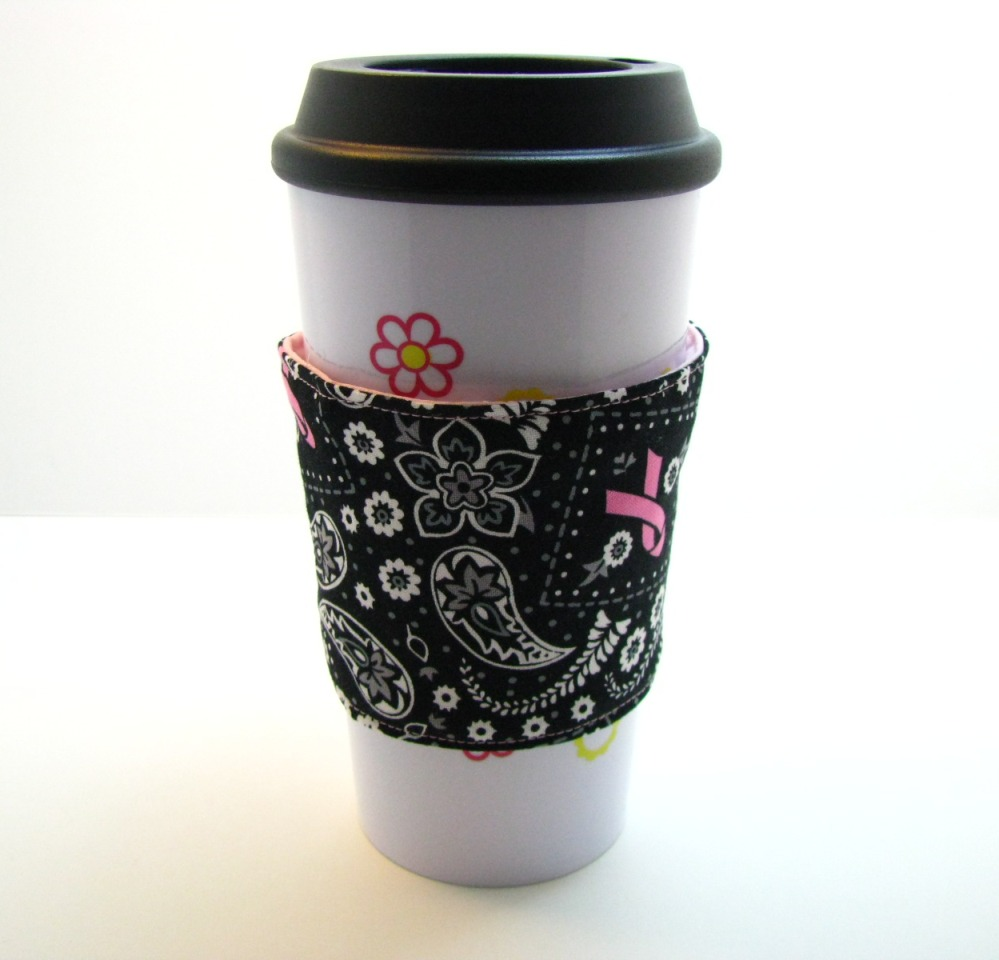 Breast Cancer Awareness Coffee Cozies for CBF