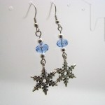 Swaroski Crystal and Snowflake Earrings by Sweetfire Creations by Lori Reed