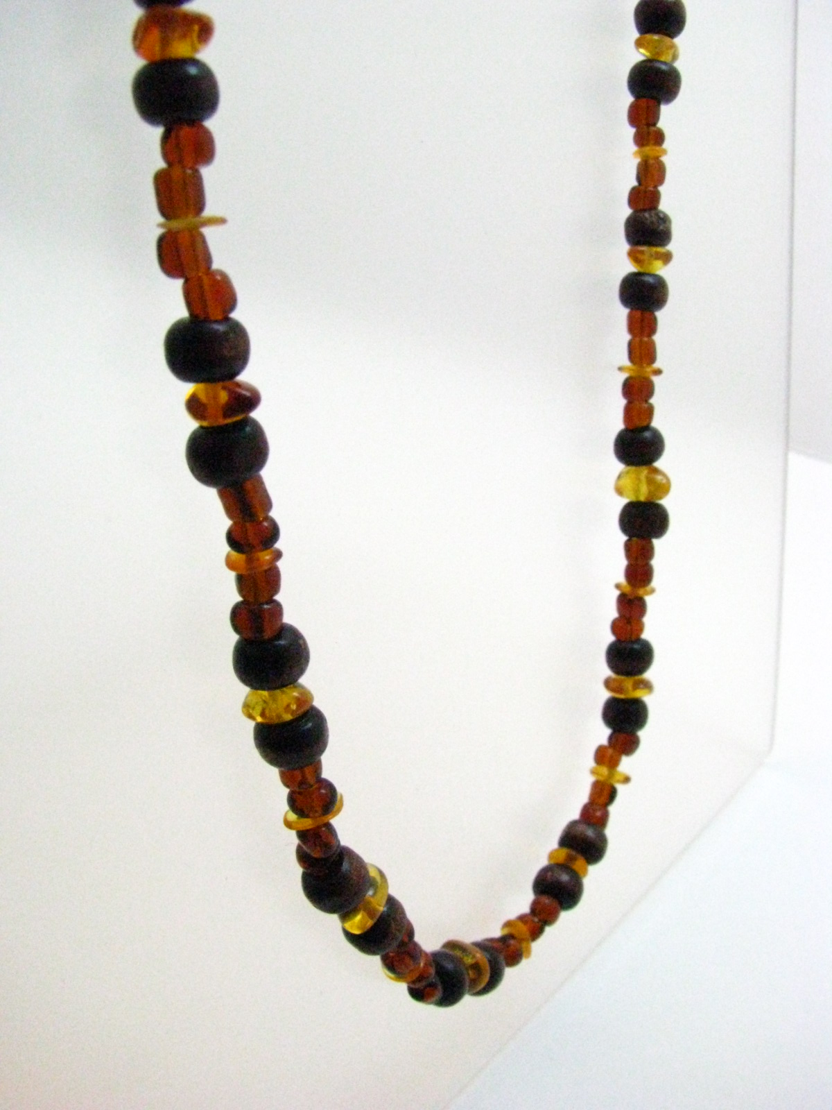 Baltic Amber and Wood Necklace by Sweetfire Creations by Lori Reed