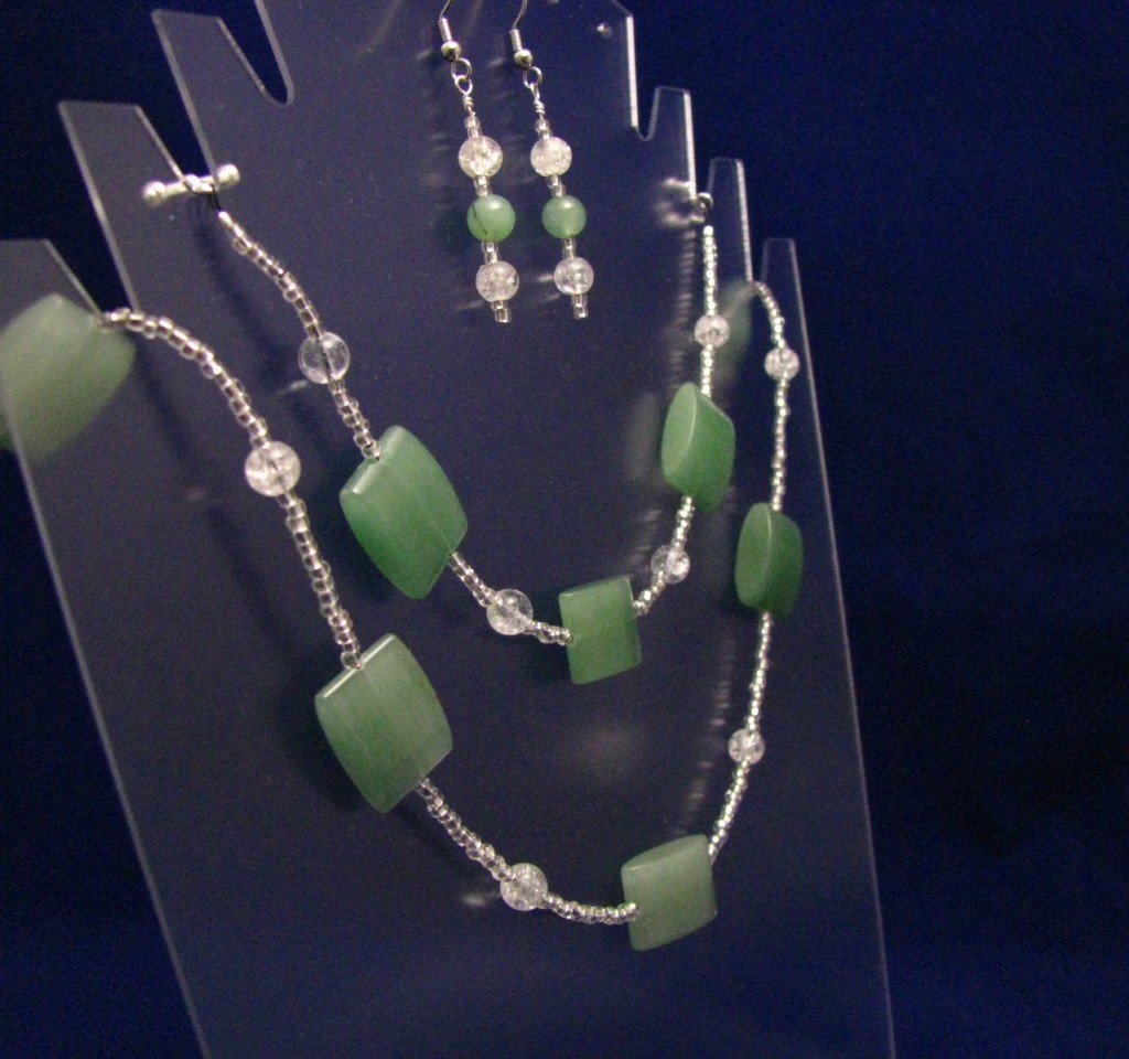 Natural Light Green Aventurine Jewelry Set by Sweetfire Creations