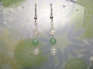 Light Green Aventurine Earrings by Sweetfire Creations