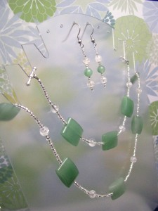 Light Green Aventurine Set by Sweetfire Creations