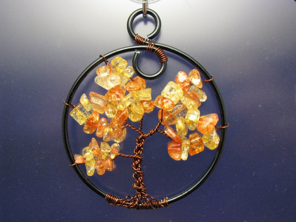 Amber Colored Fall Tree of Life by Sweetfire Creations by Lori Reed