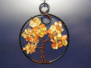 Amber Colored Fall Tree of Life by Sweetfire Creations