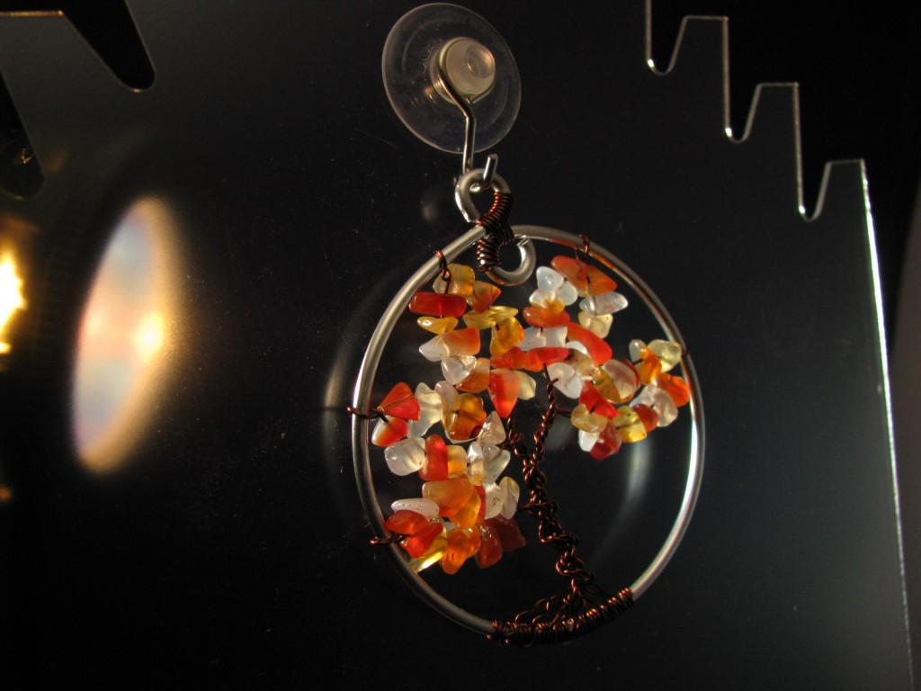 Red Agate Fall Tree of Life by Sweetfire Creations by Lori Reed