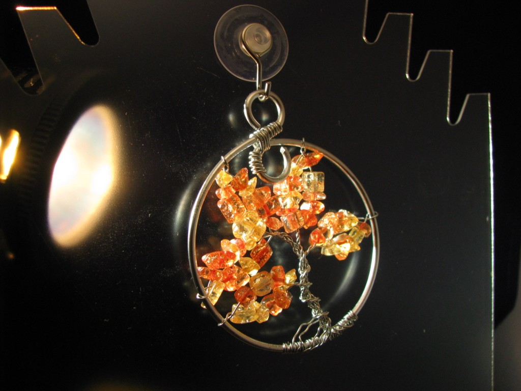 Fall Tree of Life with Amber Crackle Glass by Sweetfire Creations