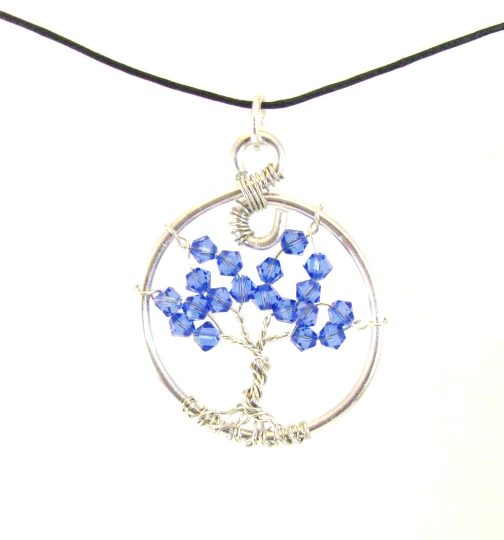 Tree of Life Tuesday – Sapphire Swarovski Crystal Tree of Life Necklace