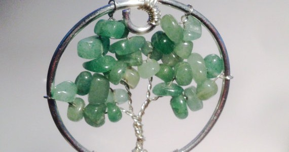 Green Aventurine Tree of Life Pendant Necklace
